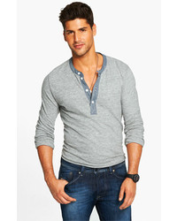 Todd snyder classic henley grey heather large medium 189877