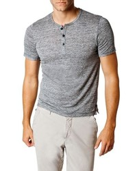 Good Man Brand Trim Fit Heathered Jersey Henley