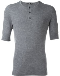 Vince Ribbed Henley T Shirt