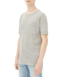 Sandro War Knit Short Sleeve Henley