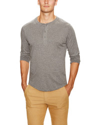 Alternative Apparel Organic Cotton Long Sleeve Henley
