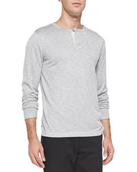 Theory Billy H Long Sleeve Henley Gray
