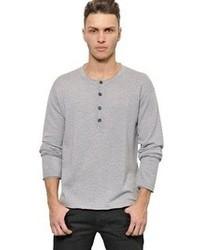Dolce & Gabbana Virgin Wool Henley Sweater