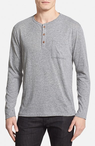 French connection slim fit henley t shirt where to buy for Kim kardashian henley shirt