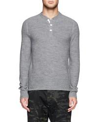 Nobrand Grayson Merino Wool Henley Sweater