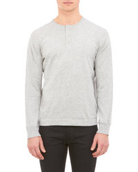 Save Khaki Henley Pullover Sweater