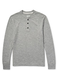 rag & bone Mlange Cotton Blend Jersey Henley T Shirt