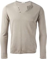 Paolo Pecora Henley Neck Sweater
