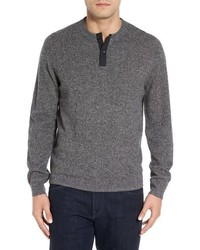 Shop cashmere henley sweater medium 1148076