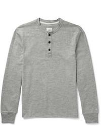 rag & bone Slim Fit Mlange Cotton Blend Jersey Henley T Shirt