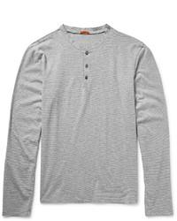 Barena Striped Cotton Jersey Henley T Shirt