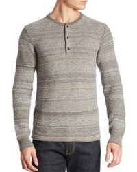 Billy Reid Striped Wool Blend Henley