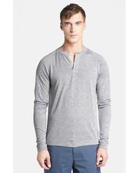 Theory Jordun Henley Sweater Grey Multi X Large