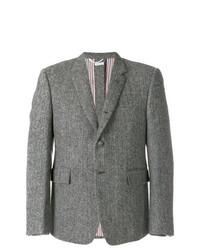 Thom Browne Button Back Classic Sport Coat In Herringbone Harris Tweed