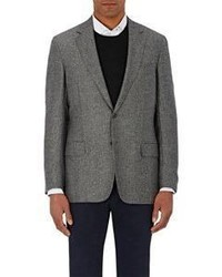 Luciano Barbera Herringbone Weave Two Button Sportcoat