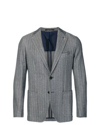 Tagliatore Patterned Single Breasted Blazer