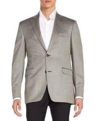 Slim fit silk wool herringbone sportcoat medium 657804