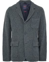 Grayers Strom Blue Ivy Herringbone Wool Blend Blazer