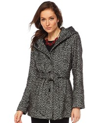 Croft Barrow Herringbone Wool Blend Trench Coat