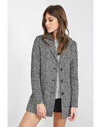 Forever 21 Wool Blend Herringbone Coat