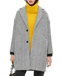 Topshop Herringbone Check Coat