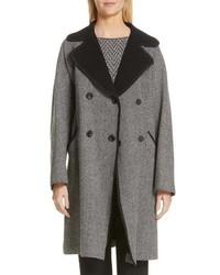 Emporio Armani Herringbone Trench Coat