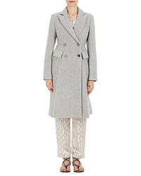 Isabel Marant Danki Alpaca Wool Double Breasted Coat
