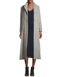 Isabel Marant Long Wool Blend Top Coat Gray