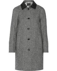 J.Crew Collection Embellished Herringbone Wool Coat