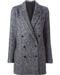 Lardini Herringbone Double Breasted Jacket