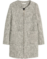 H&M Melange Coat Gray Ladies