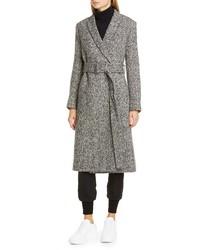 Stella McCartney Melange Wool Wrap Coat
