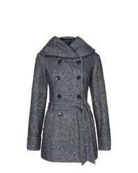 New Look Grey Belted Snood Coat