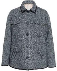 No.21 No21 Short Herringbone Tweed Coat