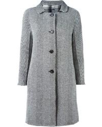 S Max Mara Herringbone Reversible Coat