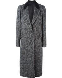 Tagliatore Herringbone Pattern Long Coat