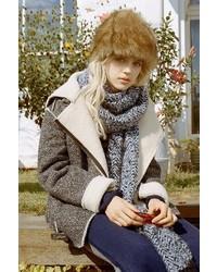 Urban Outfitters Joa Mustang Herringbone Coat