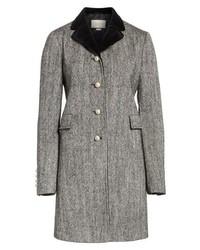 Velvet collar wool blend coat medium 8672164