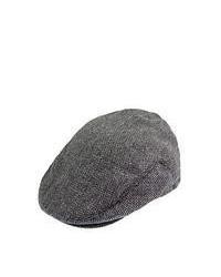 Brixton Hats Hooligan Flat Cap Greyblack Herringbone