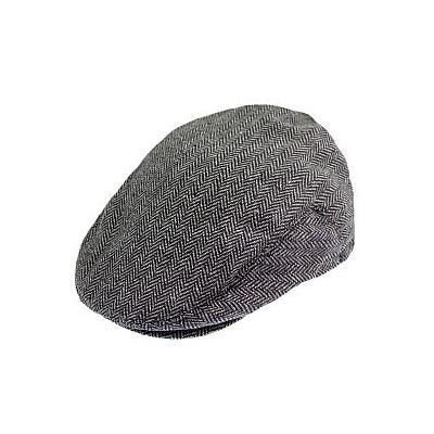 ada48df976d ... Brixton Hats Hooligan Flat Cap Greyblack Herringbone
