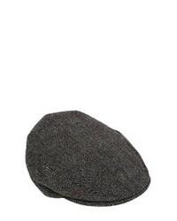 Dolce & Gabbana Wool Herringbone Flat Cap