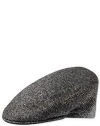 Charles Tyrwhitt Grey Herringbone Flat Cap