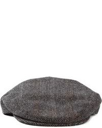 Herringbone flat cap medium 89512