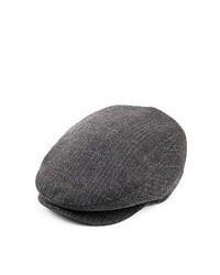 Jaxon Hats Arno Herringbone Flat Cap Grey