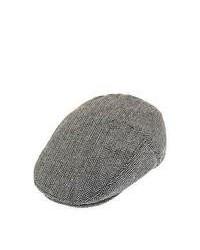 Jaxon Hats Herringbone Flat Cap Grey