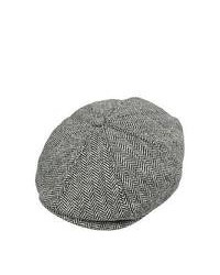 Jaxon Hats Herringbone Newsboy Cap Grey
