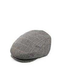Jaxon Hats Tiber Herringbone Flat Cap Charcoal