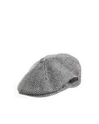 Kangol hats kangol herringbone flat cap grey medium 89517