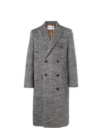 Salle Privée Alain Double Breasted Herringbone Wool Blend Coat