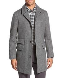 Billy Reid Astor Three Button Herringbone Overcoat